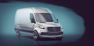 Mercedes-Benz Vans zeigt eine erste Designskizze vom neuen Sprinter