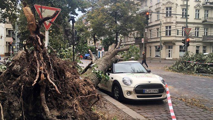Wie beim Sturm Xavier sorgt auch Herwart für Schäden an Autos.
