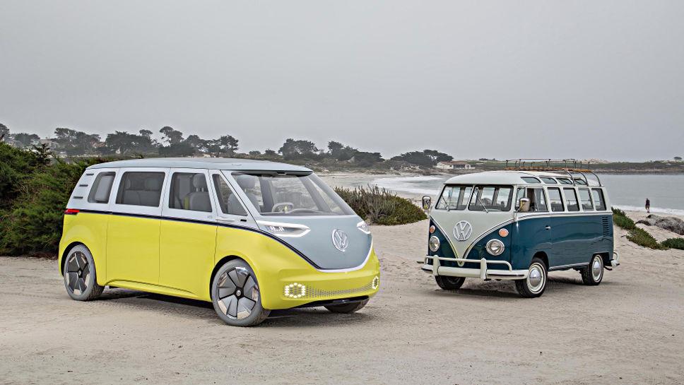 Der I.D. Buzz und der VW T1.