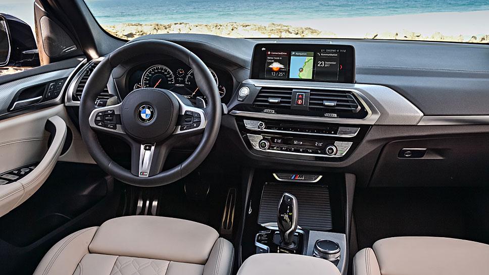 Extrem sportlich unterwegs ist man mit dem BMW X3 M40i