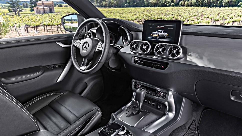 Der Innenraum der Mercedes X-Klasse
