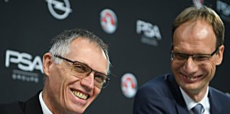 PSA-Chef Carlos Tavares und Opel-Chef Michael Lohscheller.