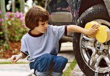 Auch die Felgen können beim Reifenwechsel gereinigt werden