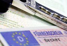 Führerschein in Scheckkartenformat.