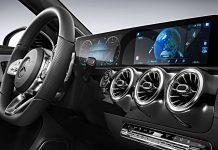Cockpit der neuen A-Klasse von Mercedes.