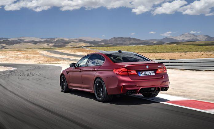 Das Heck des M5. Foto: BMW