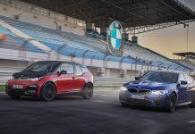 Der BMW i3s und der M5 (r.)