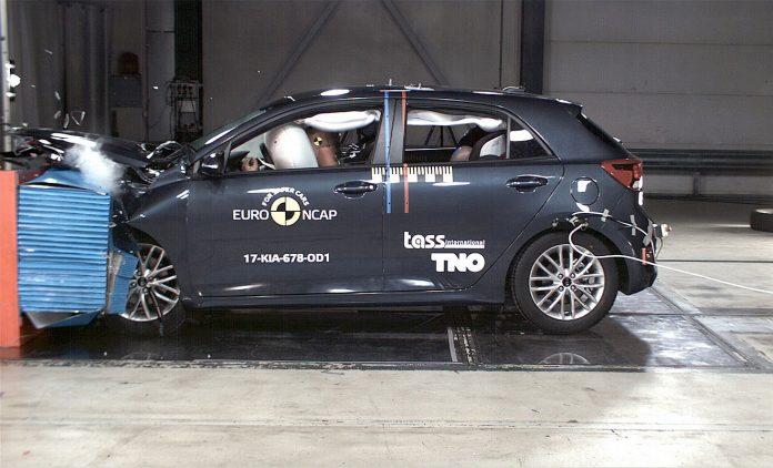 Ein Kia beim Crashtest. foto: euroNCAP