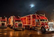 Lkw dürfen zu Werbezwecken beleuchtet werden. Foto: Coca Cola Deutschland