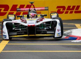 Daniel Abt beim Rennen der Formel E. Foto: Audi