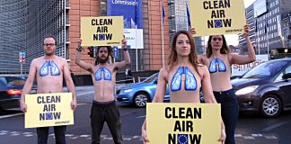 Greenpeace in Brüssel. Foto: dpa