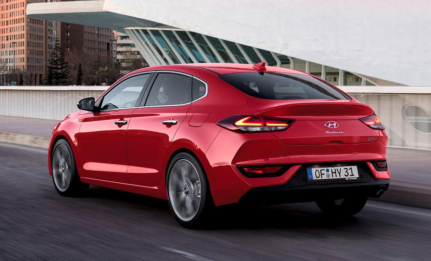 Das Heck des i30 Fastback. Foto: Hyundai