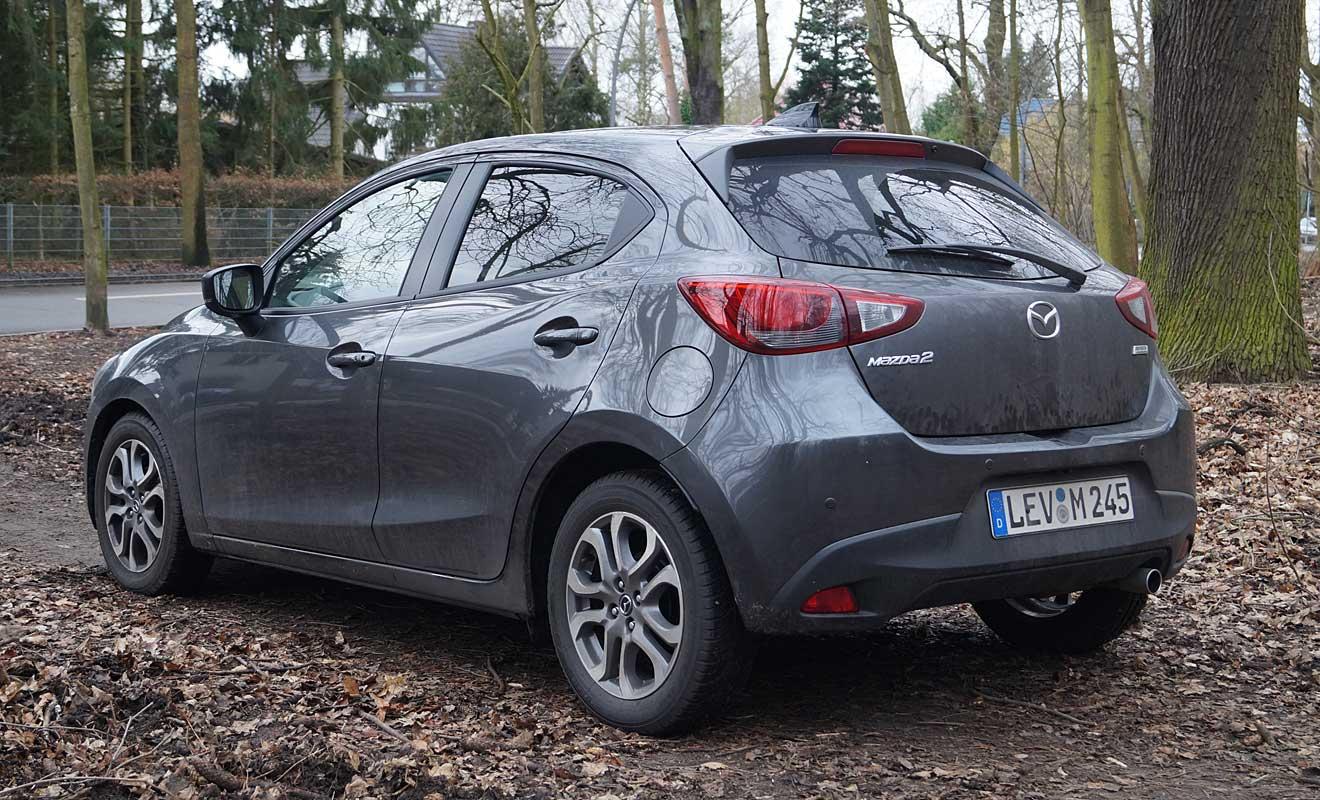 Das Heck des Mazda2. Foto: AG/Flehmer