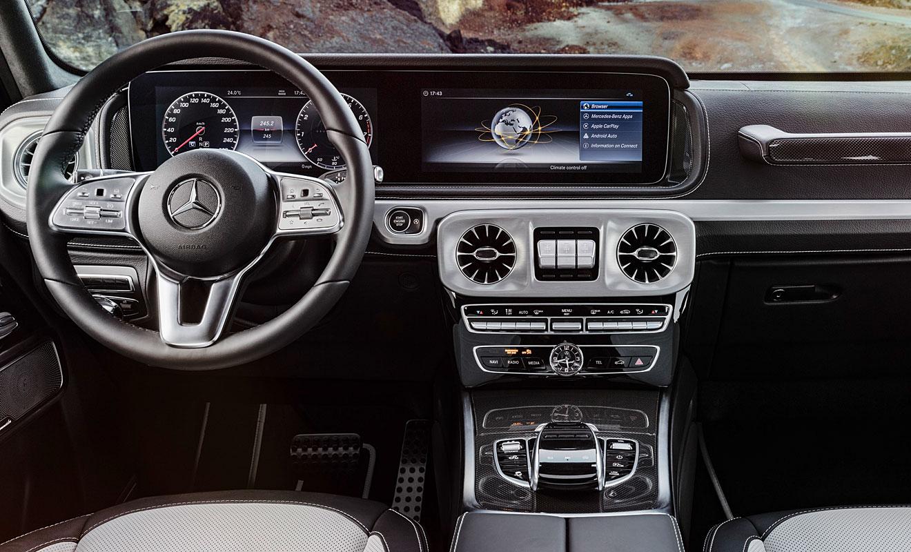 Das Cockpit der G-Klasse. Foto: Mercedes