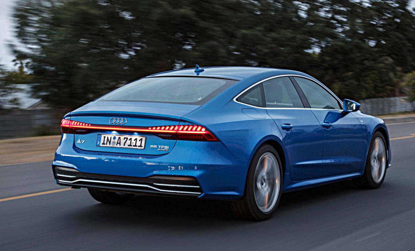 Heck des Audi A7 Sportback. Foto: Audi