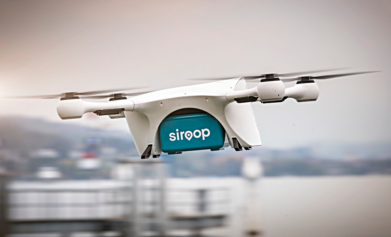 Lieferung per Drohne. Foto: Daimler