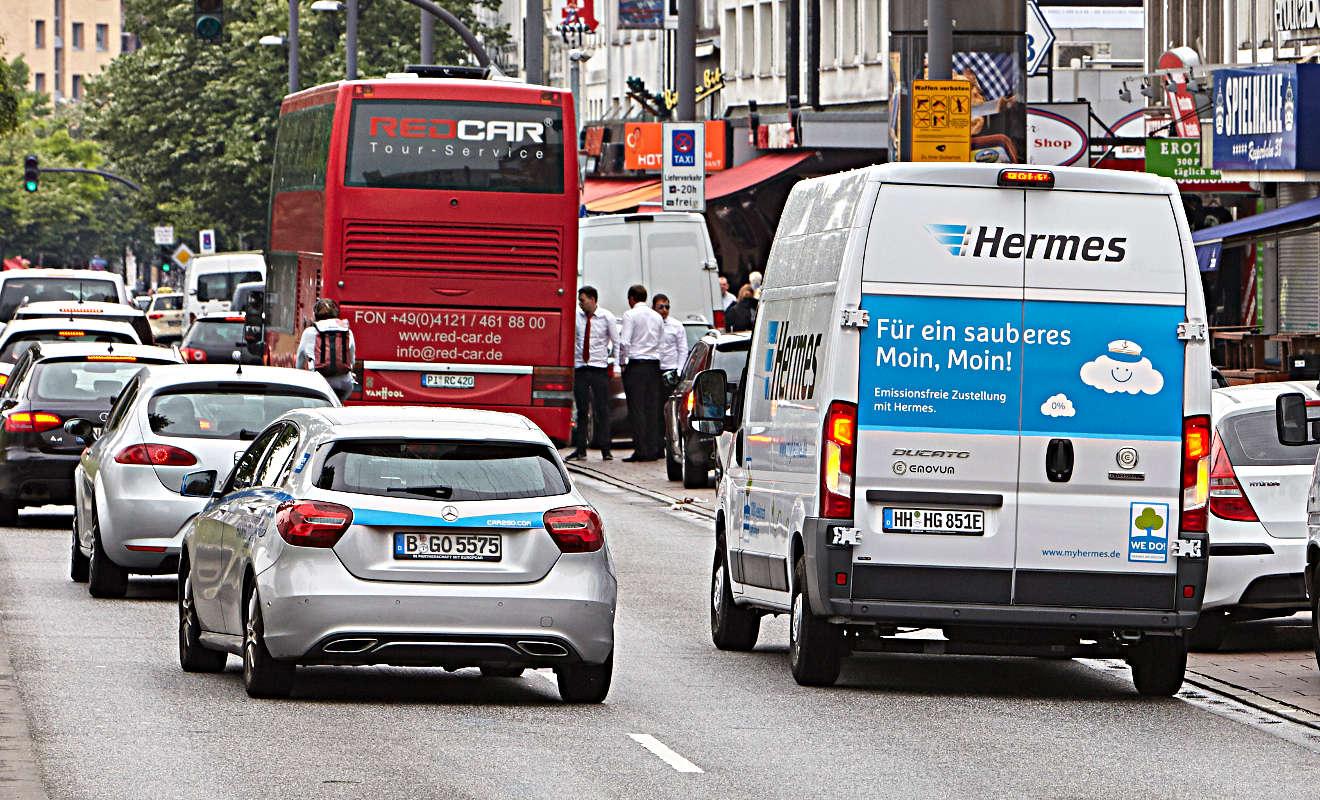 Hermes setzt auf emissionsfreie Logistik. Foto: Hermes