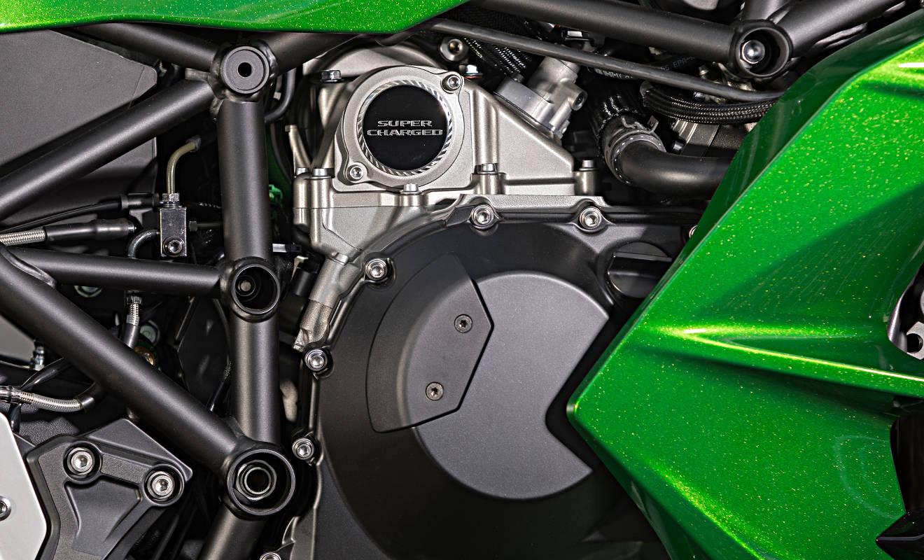 Die Kawasaki H2SX . Foto: Kawasaki
