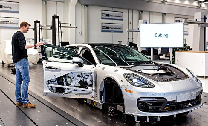Porsche-Werk in Leipzog. Foto: Porsche