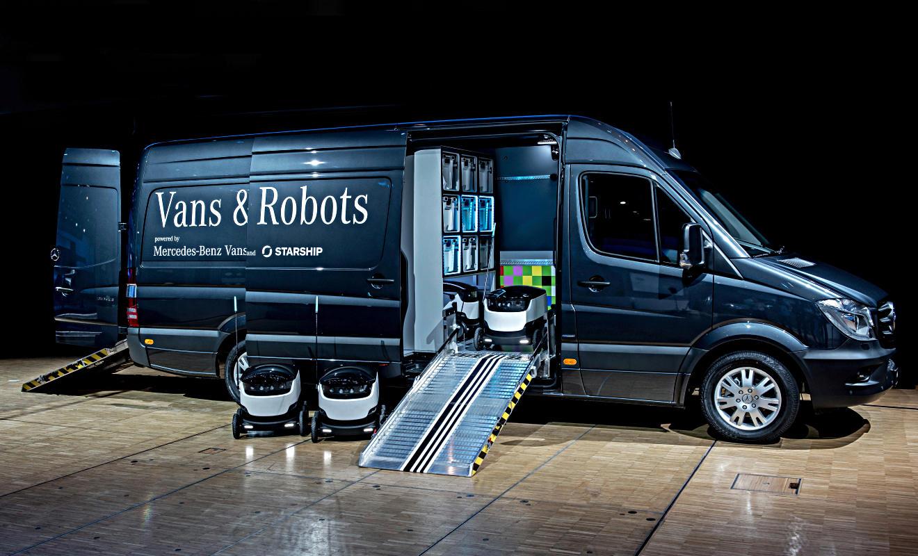 Starship-Roboter. Foto: Daimler