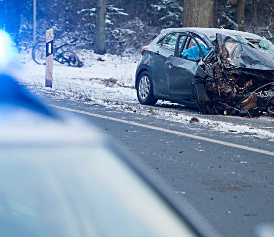 Verkehrsunfall bei Lüneburg. Foto: dpa
