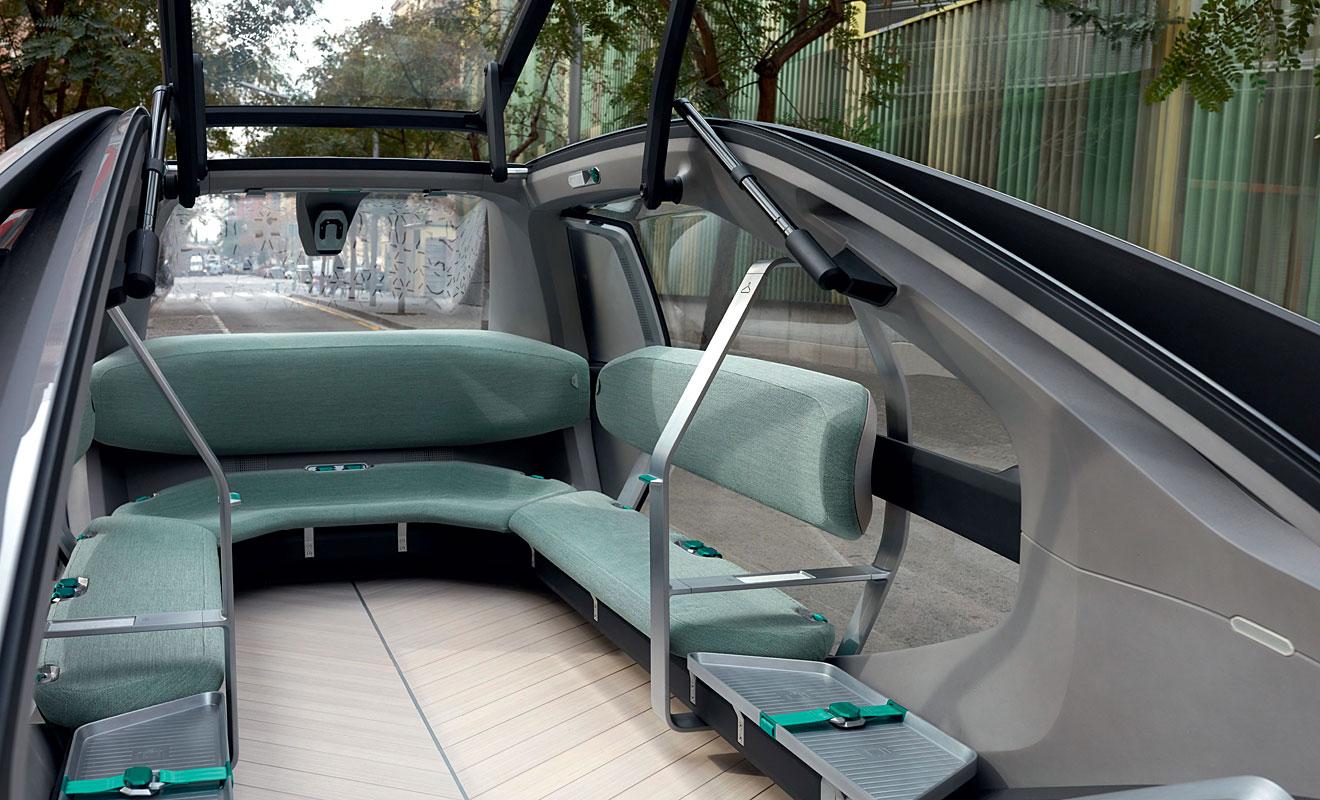 Der Innenraum des EZ-Go. Foto: Renault
