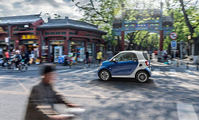 Smart Fortwo in China. Foto: Daimler