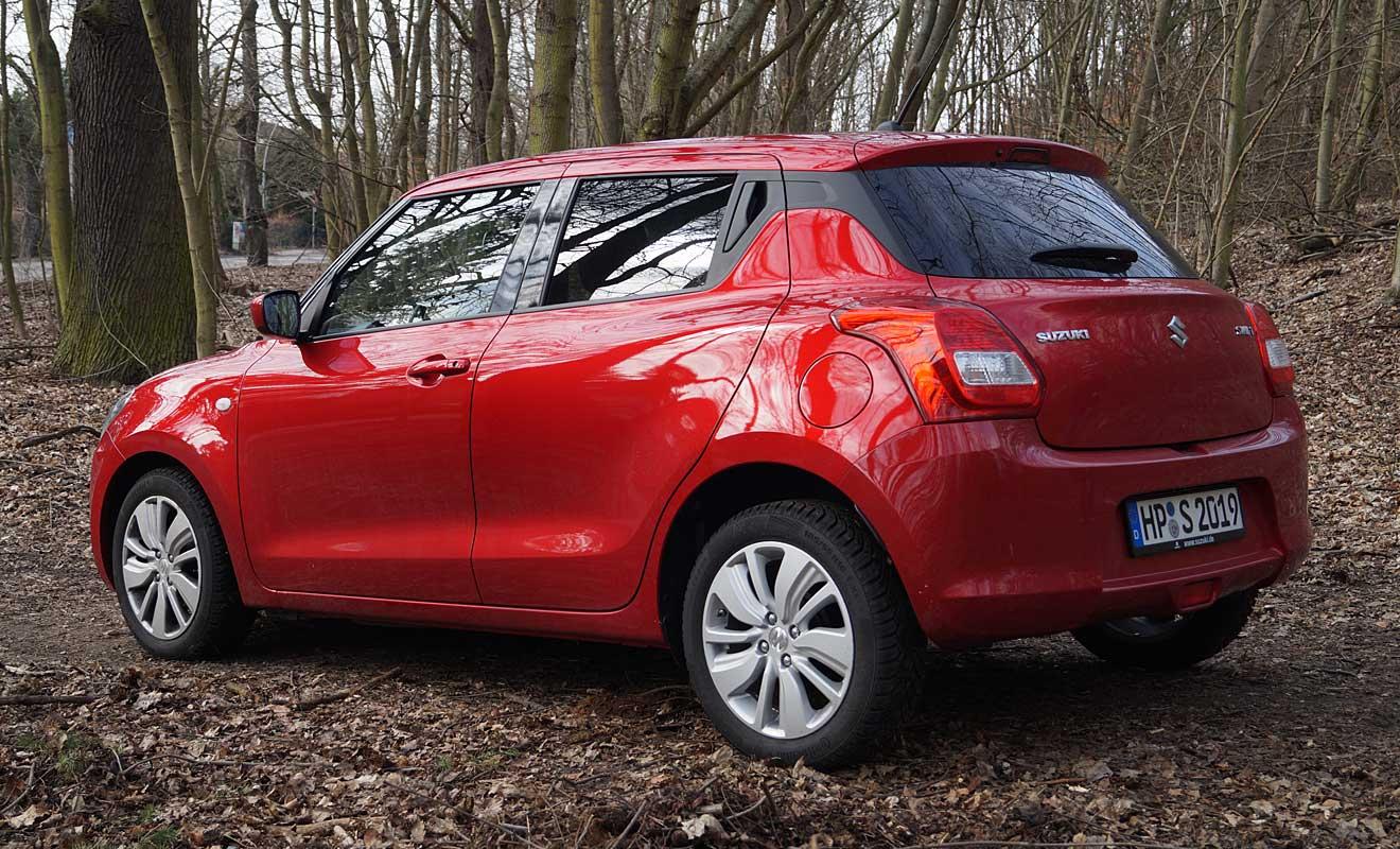 Das Heck des Suzuki Swift. Foto: AG/Flehmer