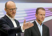 Herbert Diess und Arno Antlitz (r.). Foto: dpa
