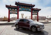 Der VW Touareg in Peking. Foto: VW