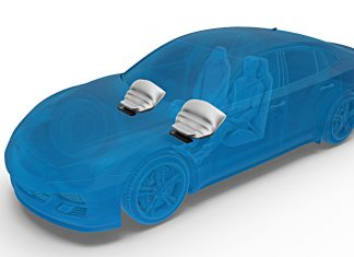 Knie-Airbag von ZF. Foto: ZF