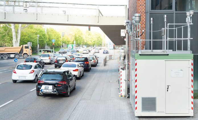Ein RDE-Test in Stuttgart. Foto: Bosch