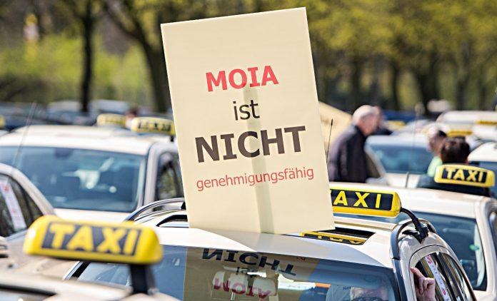 Protest gegen Moia. Foto. dpa