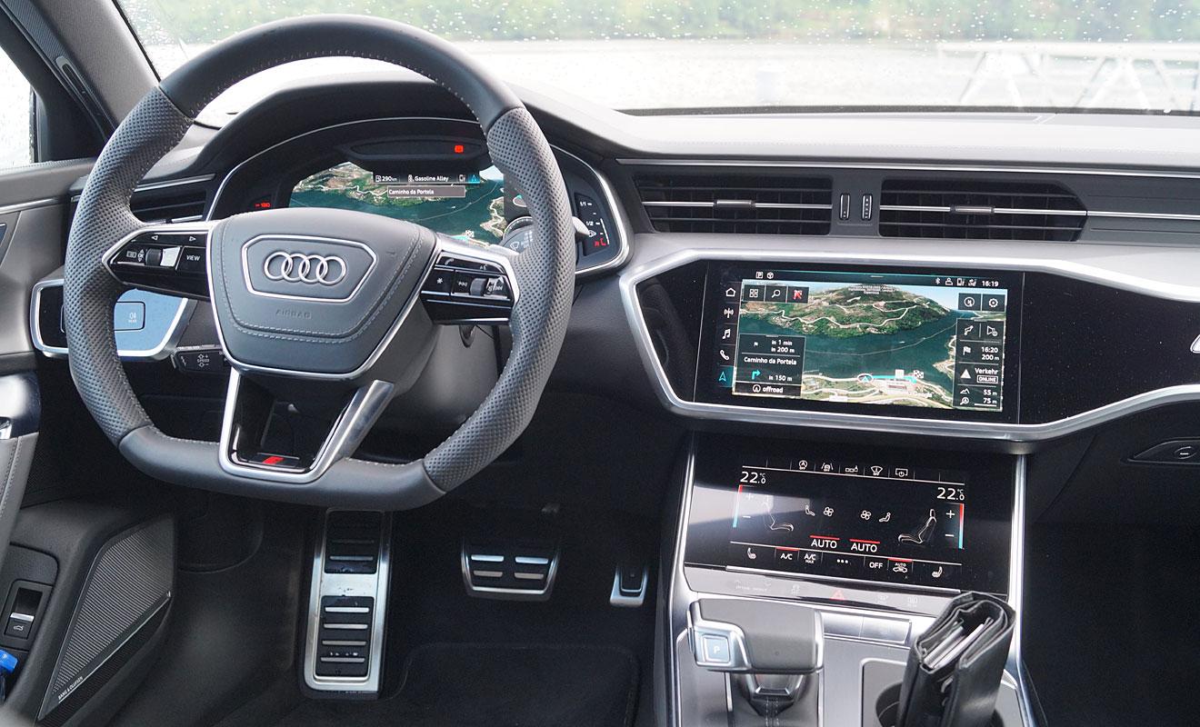 Das Cockpit des Audi A6. Foto: AG/Flehmer