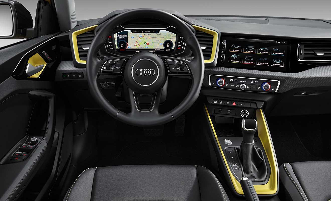 Das Cockpit des A1 Sportback. Foto: Audi