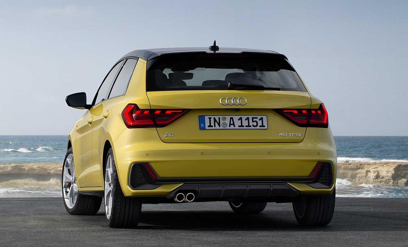 Das Heck des A1 Sportback. Foto: Audi