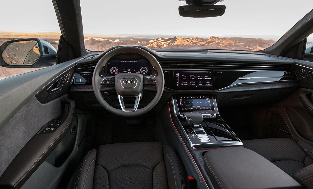 Das Cockpit des Q8. Foto: Audi