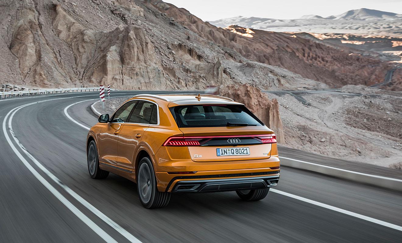 Das Heck des Q8. Foto: Audi