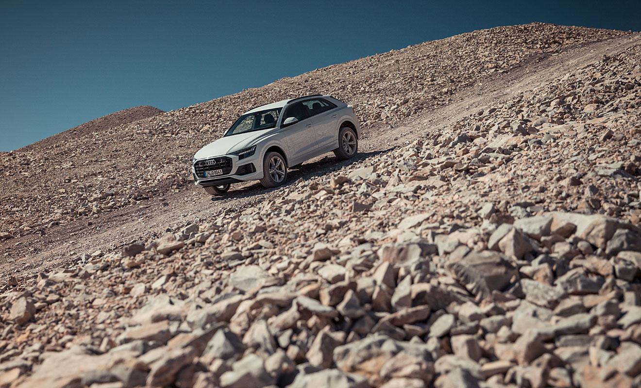 Der Q8 im Geländeeinsatz. Foto: Audi