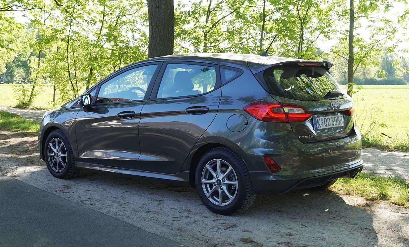 Das Heck des Ford Fiesta. Foto: AG/Flehmer