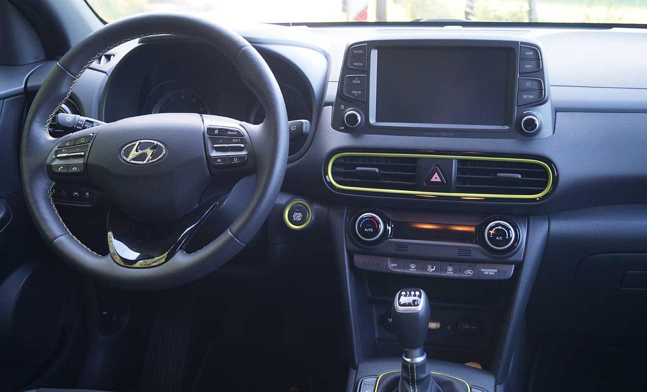 Das Cockpit des Hyundai Kona. Foto: AG/Flehmer