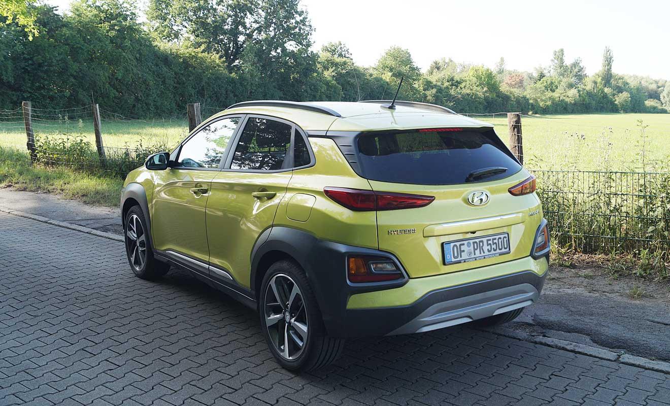 Das Heck des Hyundai Kona. Foto: AG/Flehmer