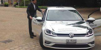 Kopernikus Automotive installierte das System in einem VW Golf. Foto: 2b Ahead