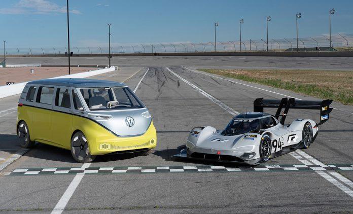 Volkswagens Elektrofahrzeuge der I.D.-Familie. Foto: Volkswagen