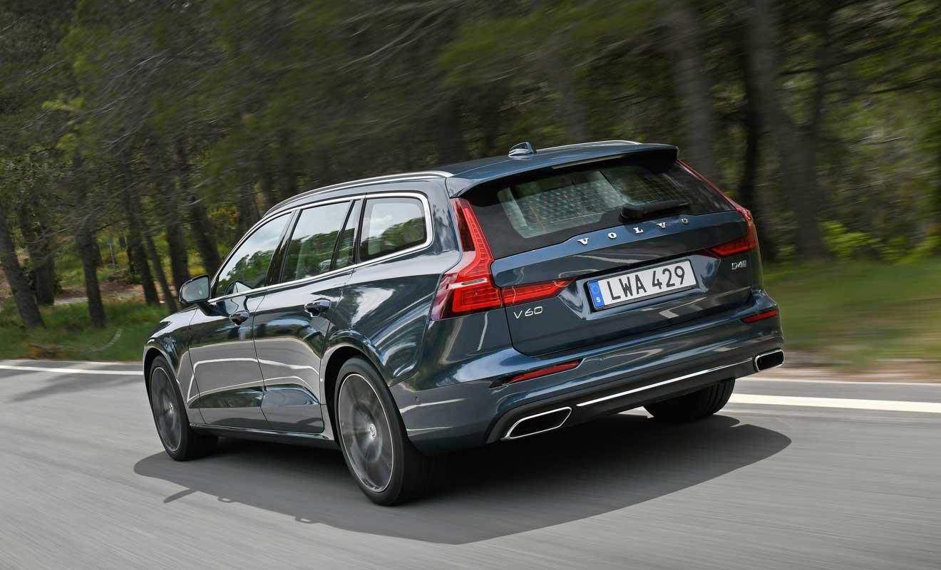 Das Heck des V60. Foto: Volvo