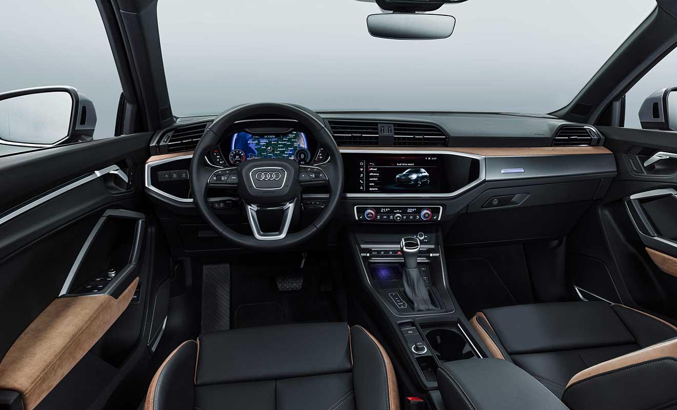 Das Cockpit des Q3. Foto: Audi