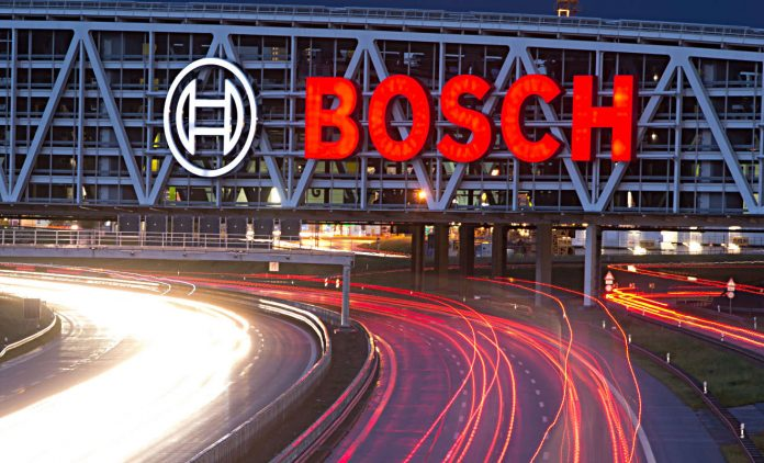 Das Bosch-Logo in Stuttgart. Foto: dpa