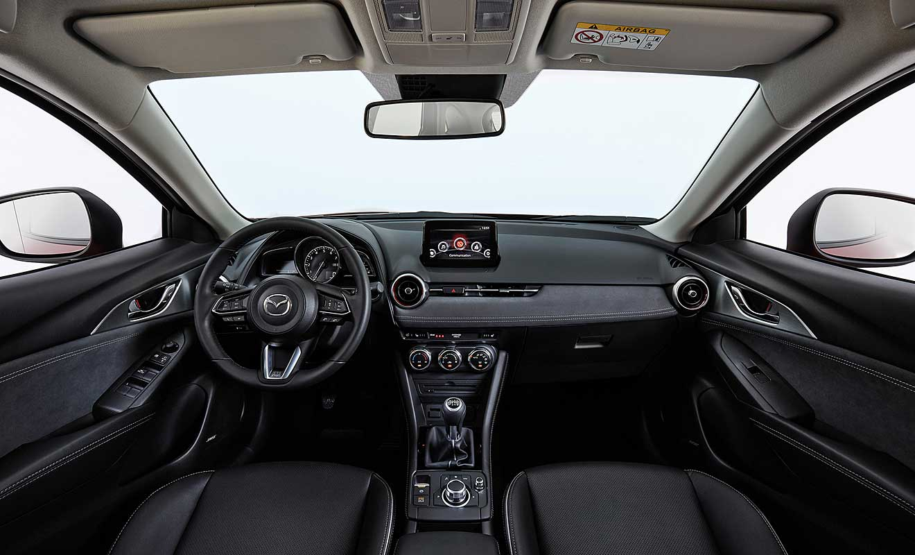 Das Cockpit des CX-3. Foto: Mazda