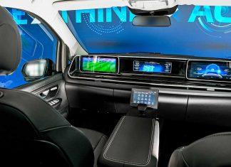 So könnte das Cockpit der Zukunft aussehen. Foto: ZF