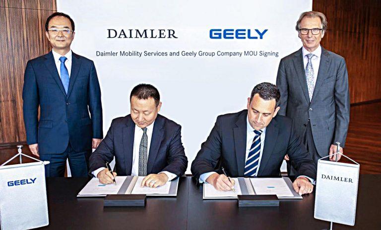 Daimler und Geely planen Luxus-Ride-Hailing in China